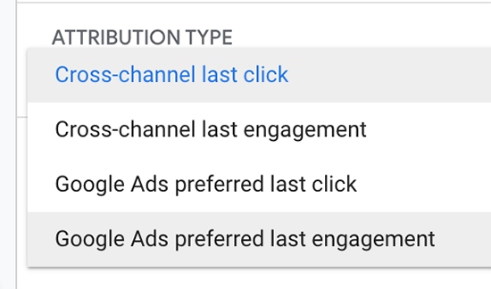 screen grab showing attribution type