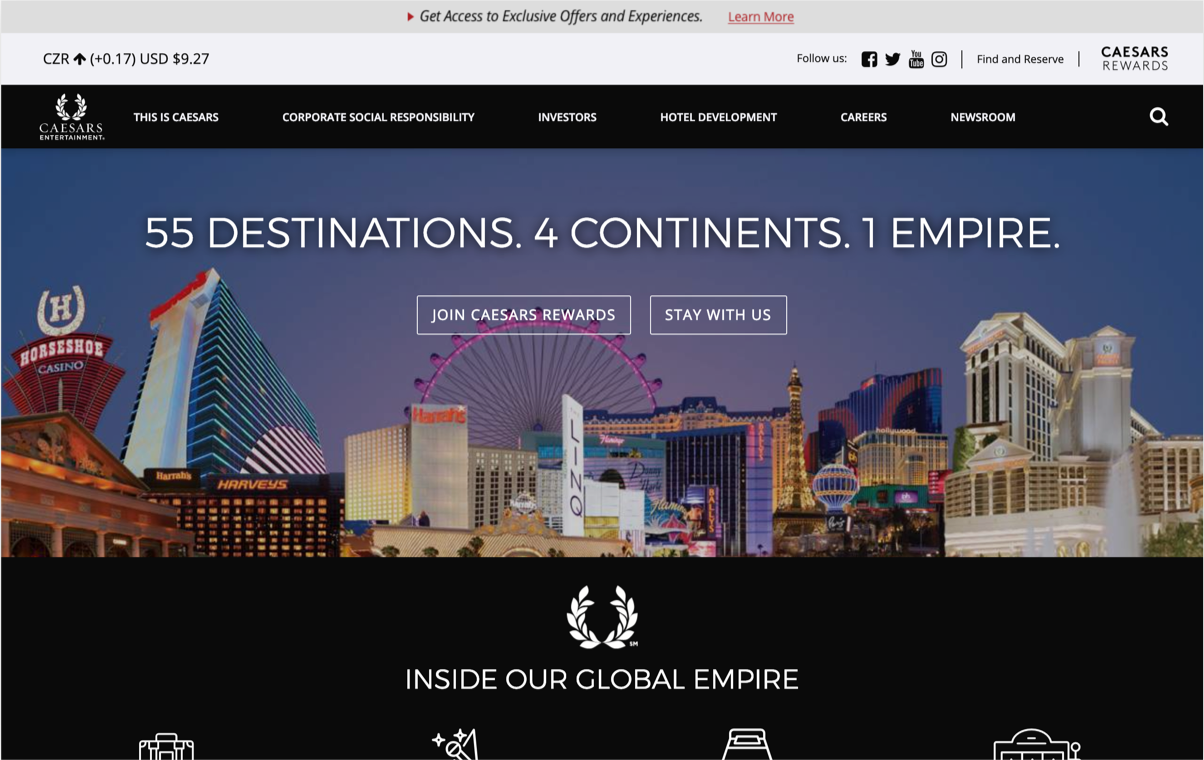 series website homepage