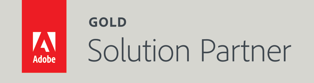 adobe gold solution partner badge logo