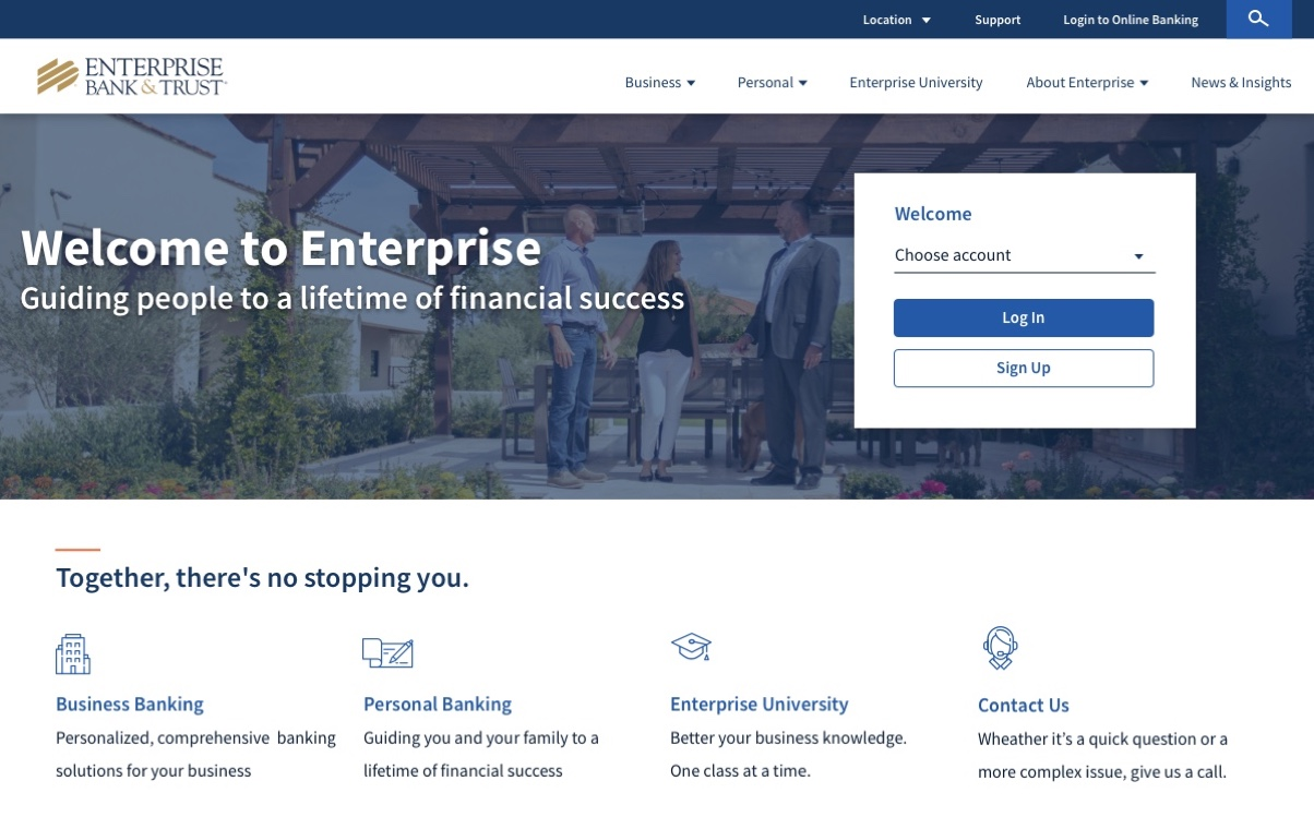 Enterprise Bank & Trust hero image
