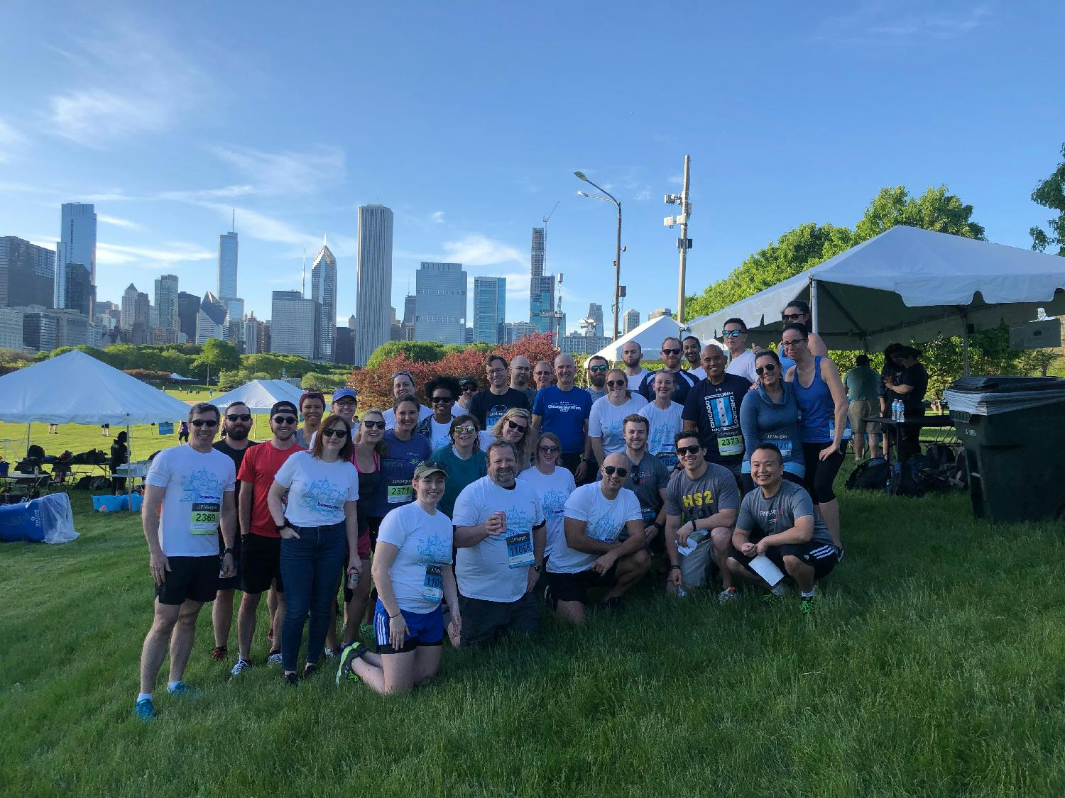 Bounteous team at the chase corporate challenge