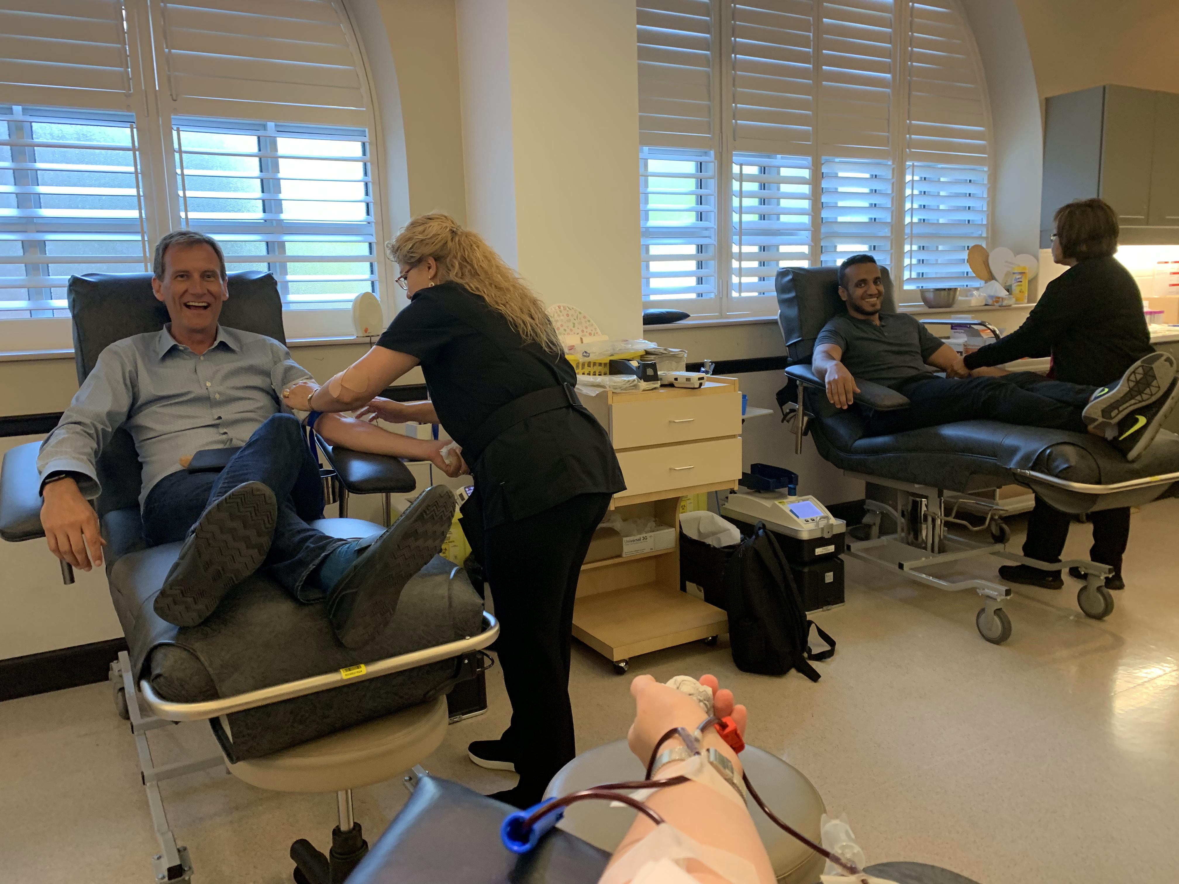 bounteous team members donating blood