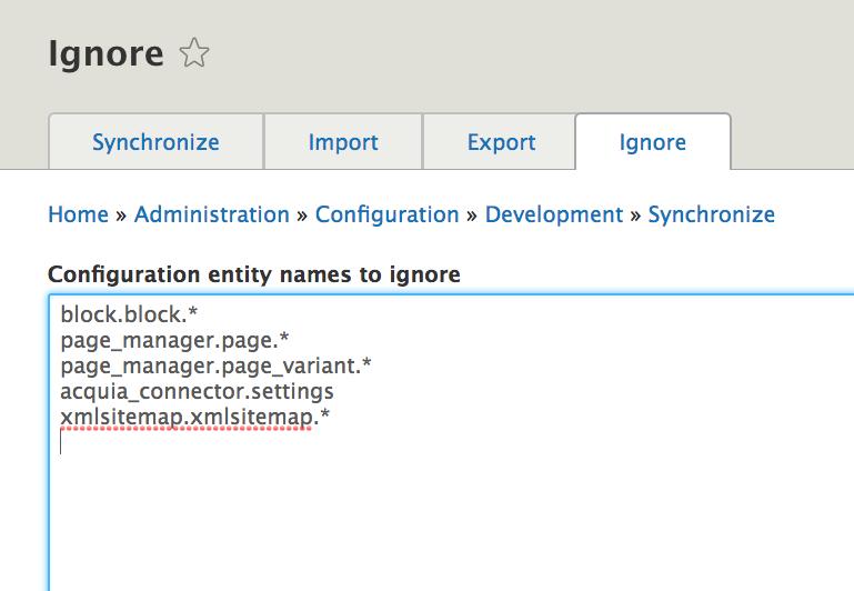 Configuration Ignore