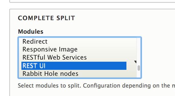 Configuration Split