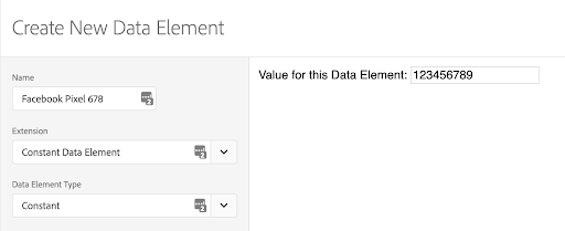 Data Elements for Configuration