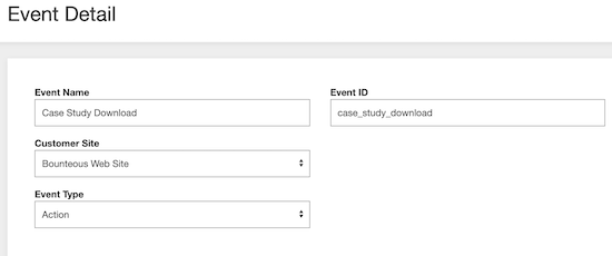 image of event details in Acquia Lift