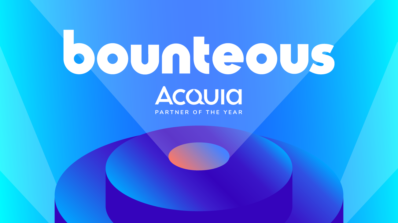 Bounteous Named Acquia Partner of the Year for 2019 blog image