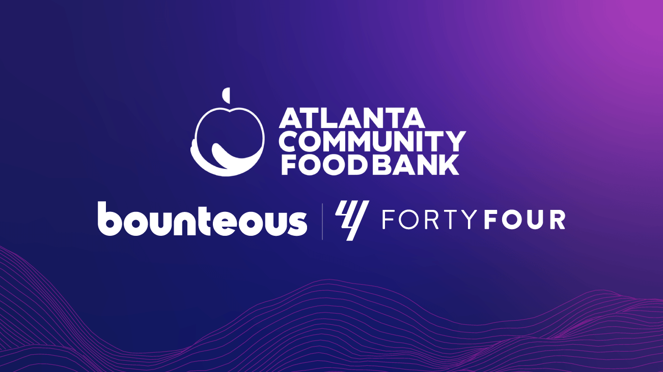 Press release image Bounteous and FortyFour Donate to the Atlanta Community Food Bank; Continuing Their Crusade Against Hunger