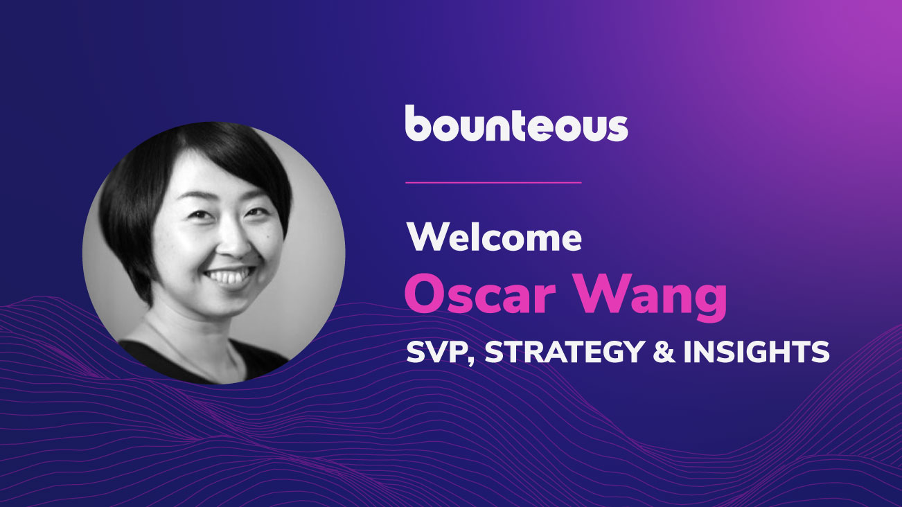 Press Release Image: Oscar Wang Joins Bounteous as Senior Vice President, Strategy & Insights
