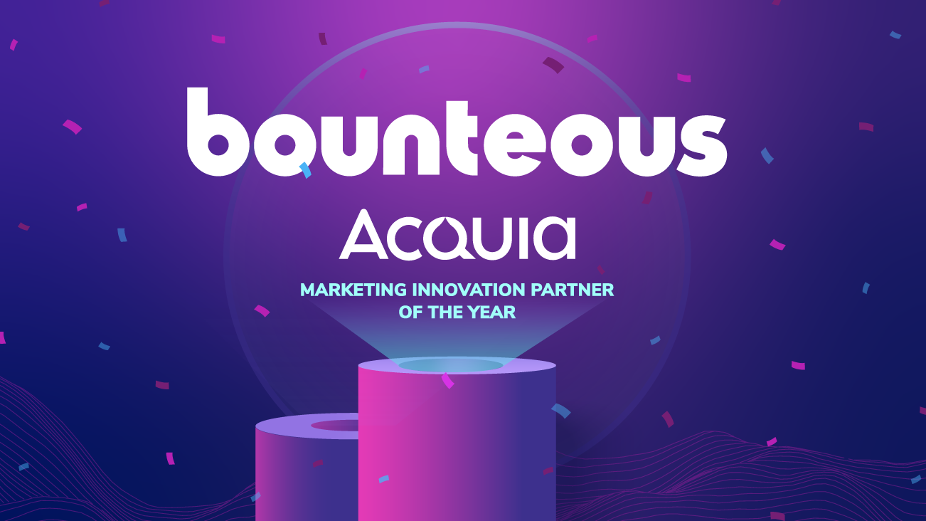 Blog image Bounteous Named Acquia Marketing Innovation Partner of the Year for 2020