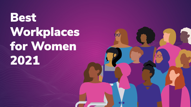 Press Release Image: Bounteous Places on 2021 List of Best Workplaces™ for Women