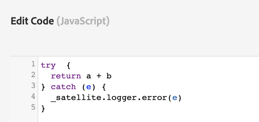 example of invalid javascript