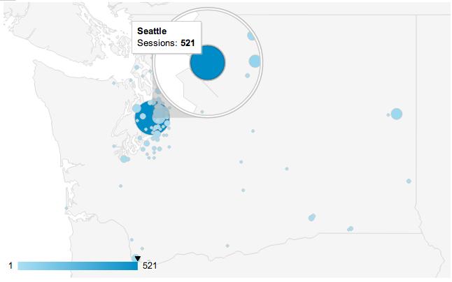 Seattle and Washington State City Views in Google Analytics