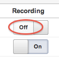 goal recording toggle off or on