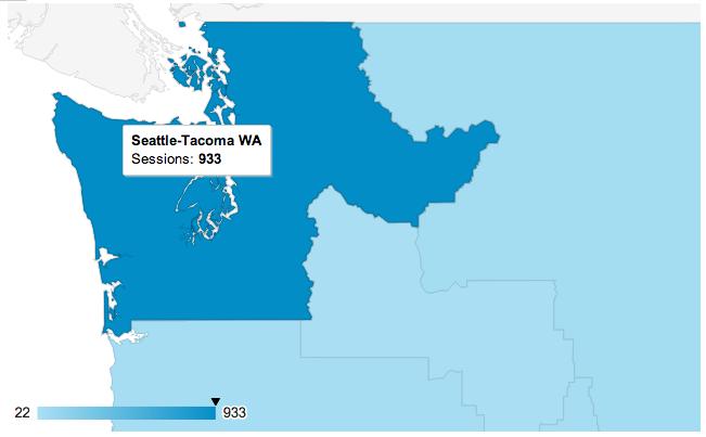 Seattle Metro Area in Google Analytics