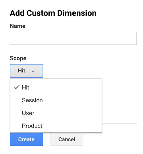 Custom Dimension Set-Up