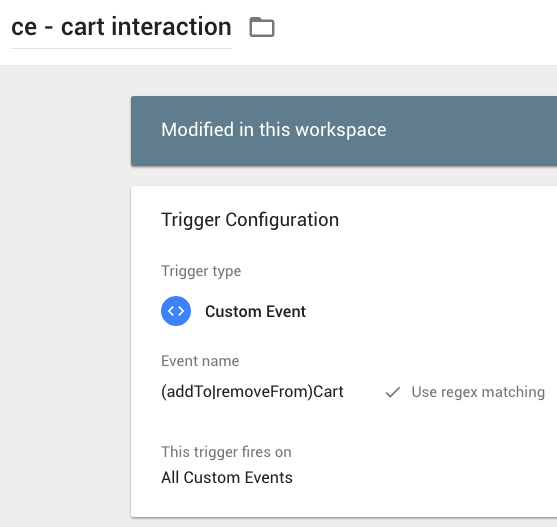 ce - cart ineraction in GTM