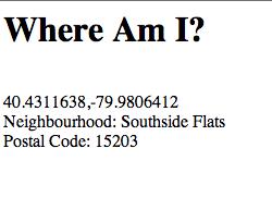 Grabbing Your Location Through HTML5