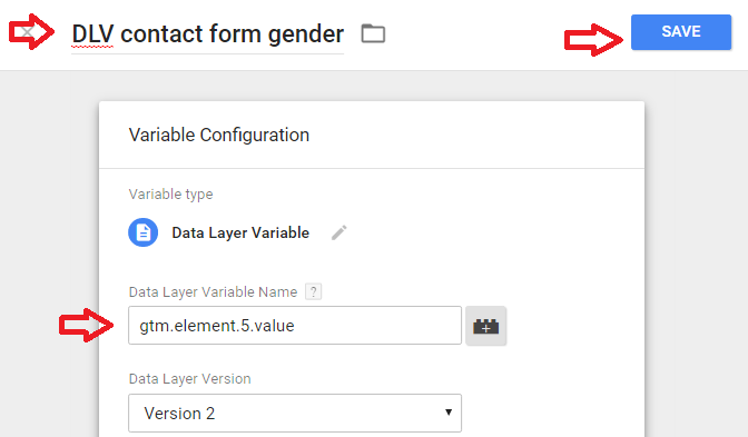access form field value with a Data Layer Variable in GTM
