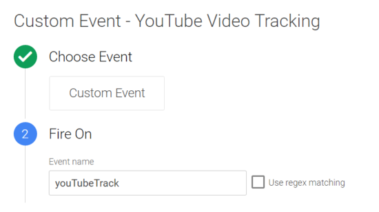 Google Tag Manager Custom Event Example - Youtube tracking
