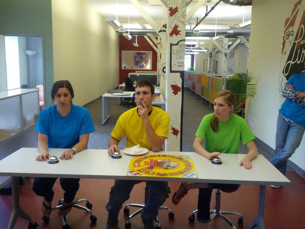 LunaMetrics team members compete in DumbAss Team Trivia