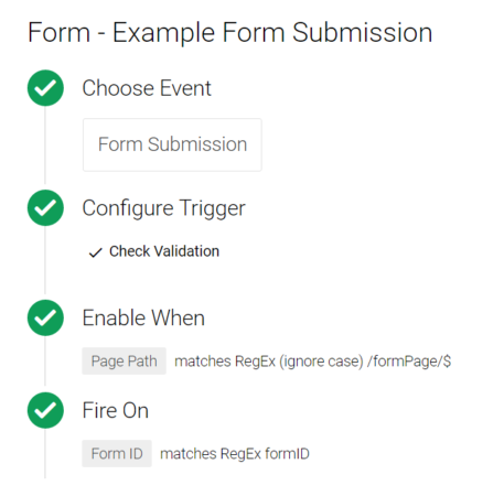 Google Tag Manager Form Trigger Exmample
