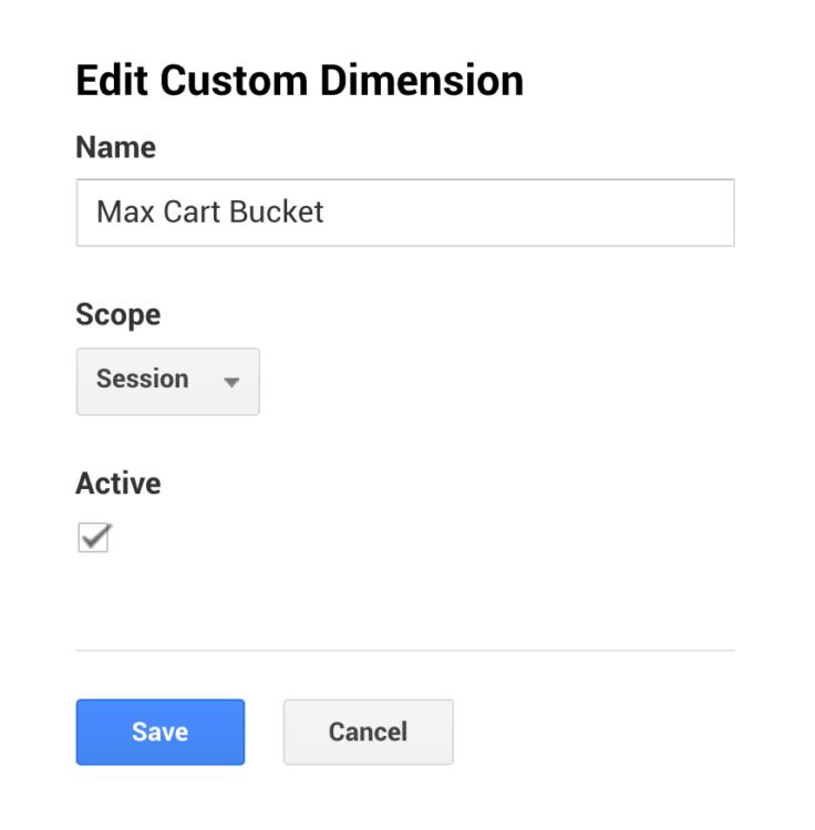Custom dimension set-up in GA