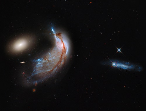 Colliding galaxies, because the universe
