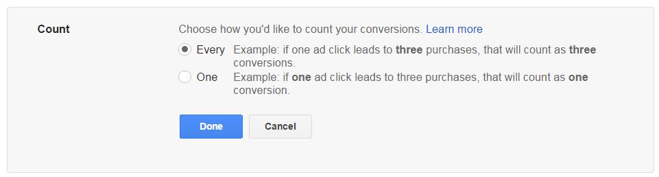 AdWords Conversion Count