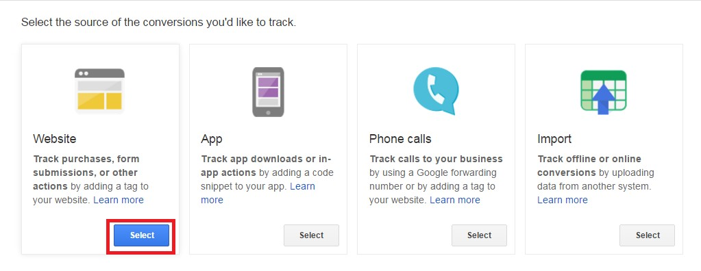 AdWords Conversion Website Tracking