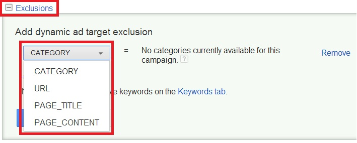 See how to create a dynamic search exclusion