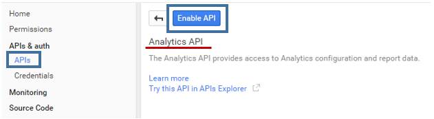 Developer Console Analytics API