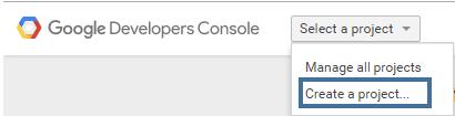Developer Console New Project