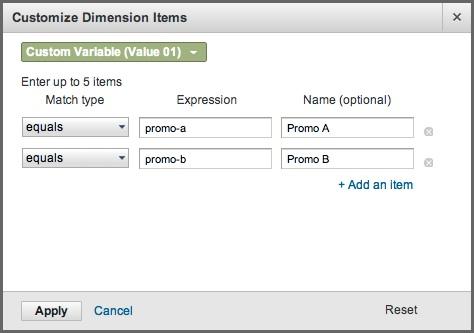 Goal Flow Customize Dimension feature