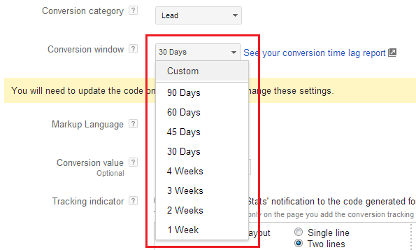 Google AdWords Tricks & Treats - Custom Conversion Window