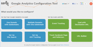 Google Analytics Configuration Tool by RavenTools