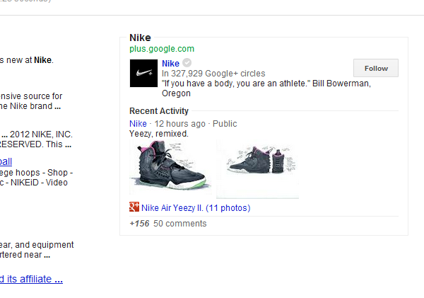 Nike-Knowledge-Graph-Search-Results