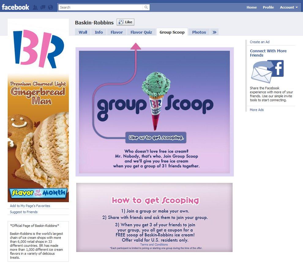 Baskin Robbins Social Media