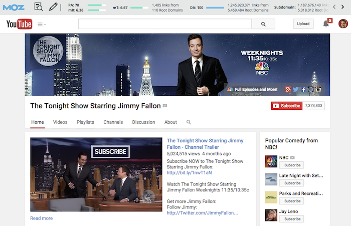 Jimmy Fallon on YouTube
