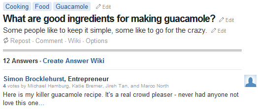 Quora Cooking Advice