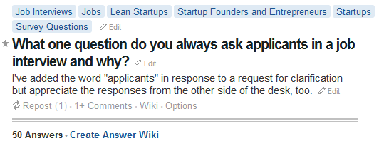 Quora Job Question