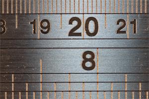 Close-up-metal-ruler