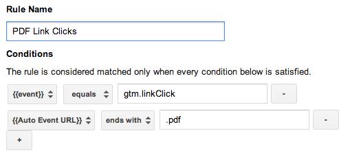 GTM PDF Click Rule