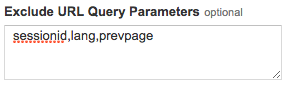 Exclude query parameters