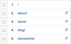 Fixed URLs in Content Reports