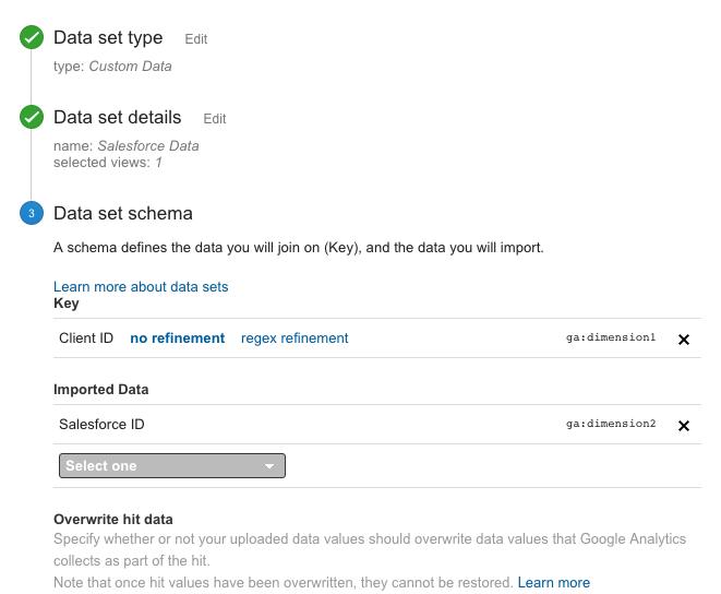 Define Data Import Schema