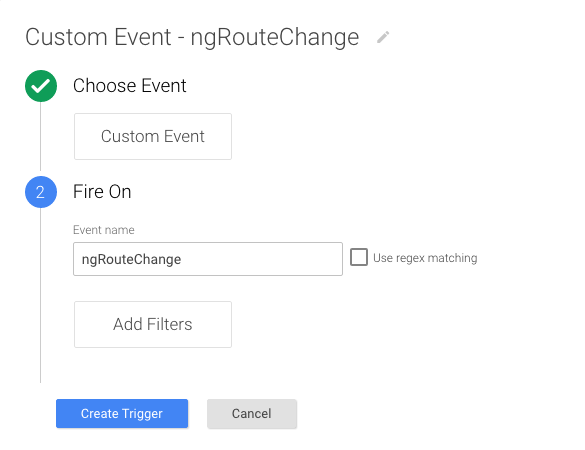 GTM Trigger for Angular Route Change