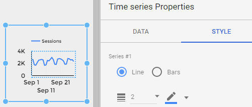 Data Studio sparkline step 1
