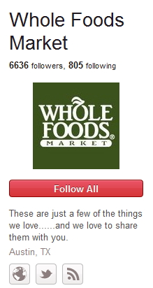 Whole Foods Pinterest Example