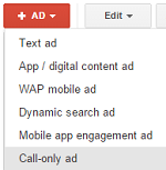 adwords call-only ad creation